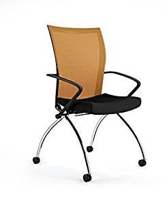 """Mayline Valore Training Chair Overall Dimensions: 23""""W X 24""""D X 36 1/2""""H Seated Area Dimensions: 19""""W X 17""""D X 18""""H Seat Height: 18.5"""" - Orange"""