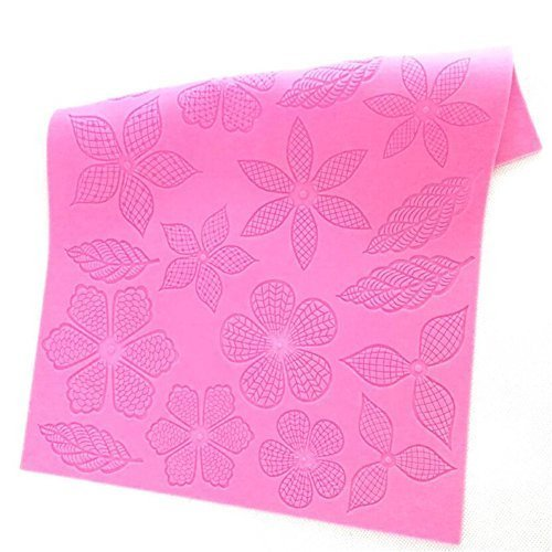 Big Flower&Leaves Pattern Silicone Lace Mold Sugar Craft Fondant CakeLace Mat Bakeware Pad Baking Mats Mould Cupcake Brim Decoration Mold Kitchenware DIY Baking Supplies - 39.5X28cm