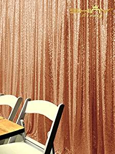 Sequin Backdrop,20FTX10FT-Rose Gold-Sequin Fabric, Wedding Backdrops, Christmas Decoration,Sequin Panel Curtains For Wedding (20FTX10FT H, Rose Gold)