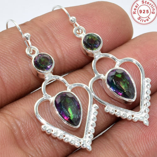 Indian jewelry promotional mystic earring 925 sterling silver jewelry handmade silver earring jewelry supplier