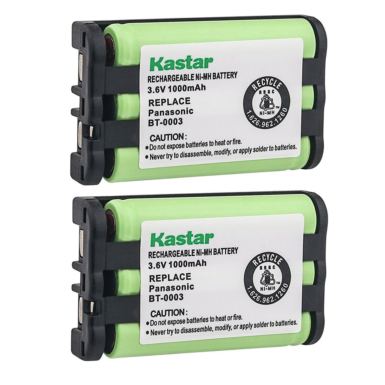 Kastar Battery (2 Pack), Ni-MH 3.6V 1000mAh, for Uniden BT-0003 BT0003 CLX-465 CLX-485 CLX-4753 TCX-400 TCX-440 WIN1200 BBTY0545001 UIP1869V CLX465 CLX4753 CLX485 TCX400 TCX440 CLX475-3 CLX502 CLX-502