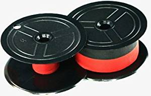 NEW TWO-SPOOL UNIVERSAL PRINTING CALCULATOR RIBBONS (C-WIND); HIGHEST QUALITY BLACK AND RED REPLACEMENT RIBBON FOR NUKOTE BR80C, PORELON PR-511, PORELON 11216, DATAPRODUCTS R3027, BR80C (6 RIBBONS)