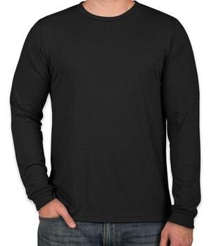 Casual Black Pattern Simple Men   Women Long Sleeve T-Shirt Round Neck 7909d8ad67d8
