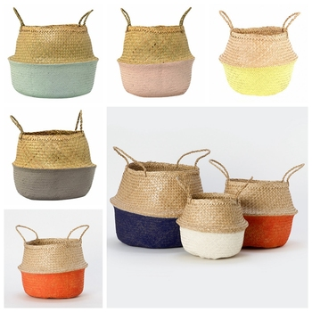 Best-selling pompom seagrass belly basket from Vietnam