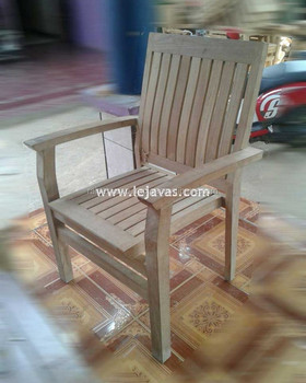Indonesia Teak Outdoor Furniture - Almair Stacking Arm Chair Jepara Furniture