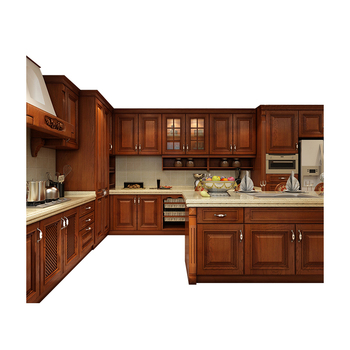 Ghana Modular Classical Solid Wood Cherry Shaker Kitchen ...
