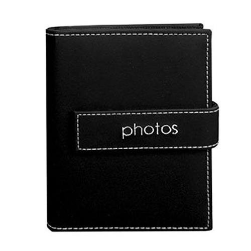"Pioneer Expressions Series Bound Mini Photo Album, Covers with Magnetic Closure Strap, Holds 36 4x6"" Photos, 1 Per Page. Color: Black ""Photos""."