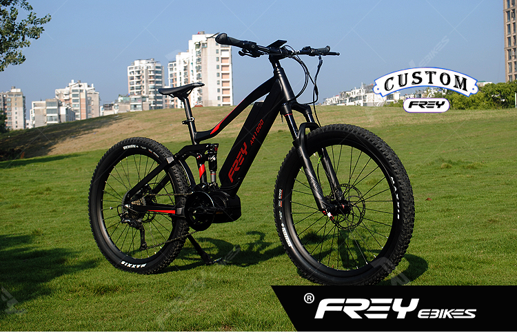 Exclusive customized AM1000 full suspension eMTB mountain bike with MAGURA MT5 e brakes