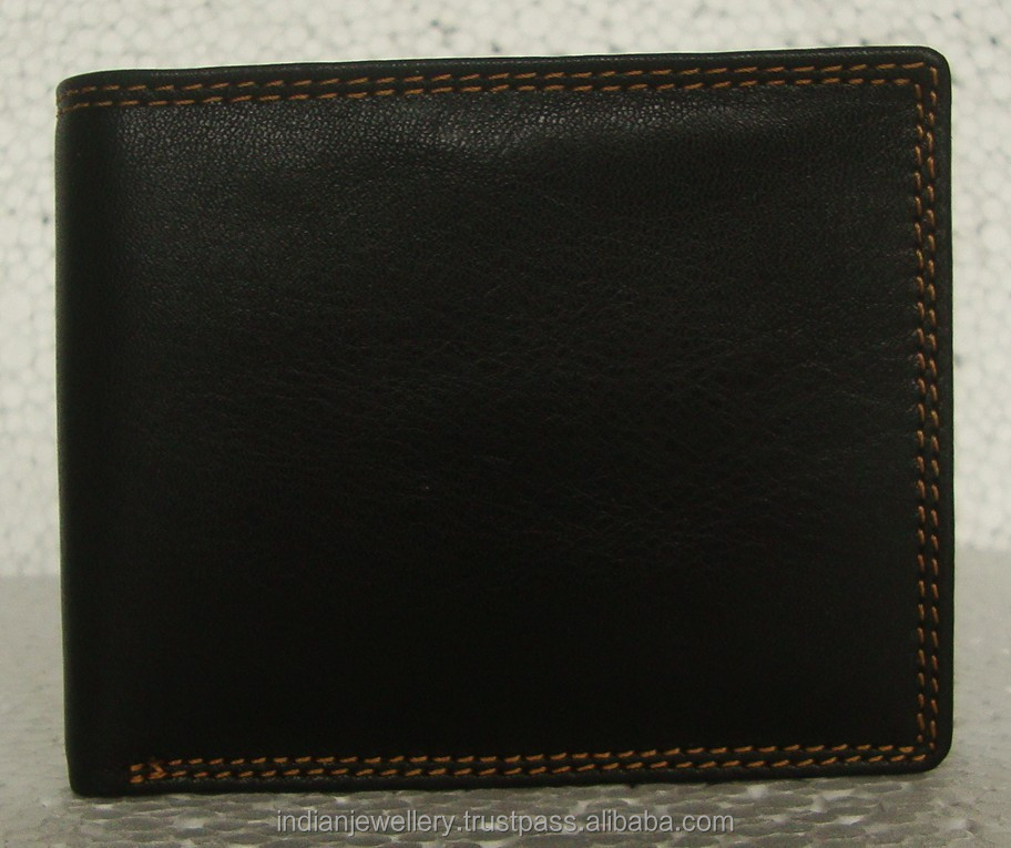 Mens leather wallets manufacturer, gents leather purse exporter