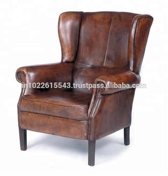 Cong Nghiệp Vintage Sofa Da Phong Khach Ghế Antique Sofa Da Buy