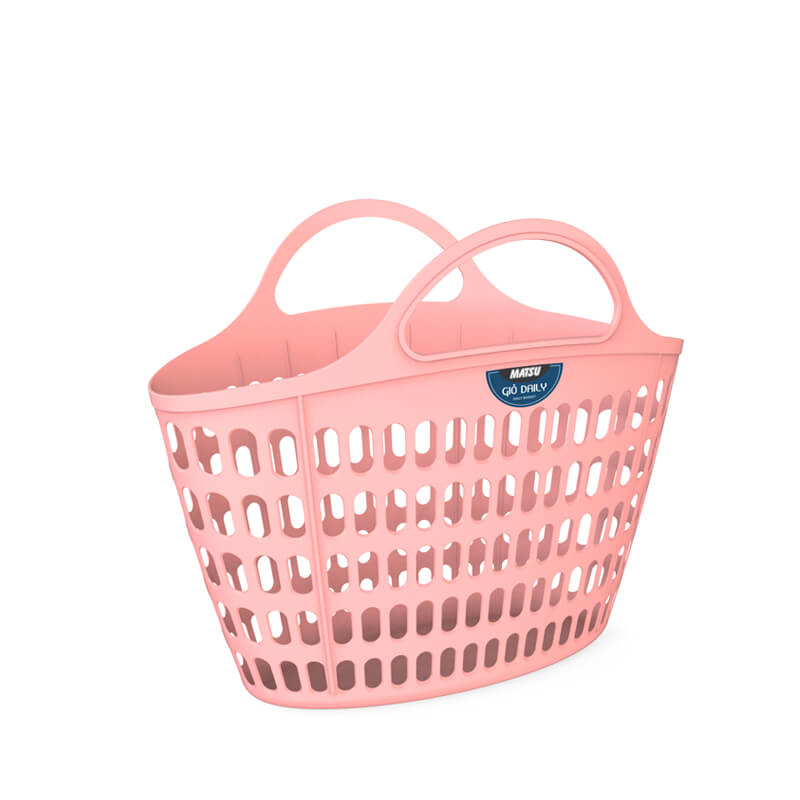 white oval daily basket new design 2019 in Vietnam from Duy Tan Plastic Corp