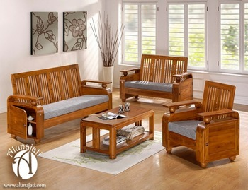 High Quality Teak Wood Sofa Set Design - Buy Wooden Living ...