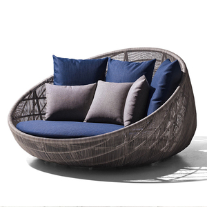 Promotional new style outdoor patio furniture garden rattan wicker daybed