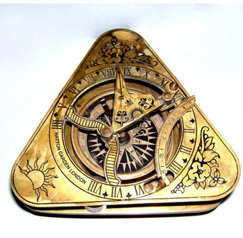 Triangle sundial compass/brass compass/nautical gifts CHCOM525