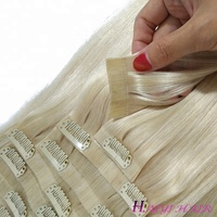High Quality Seamless Easy Wear PU Skin Weft Clip In Hair Extension