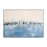 Hot selling Modern abstract cityscape canvas oil painting palette knife painting for wall art decoration as a gift
