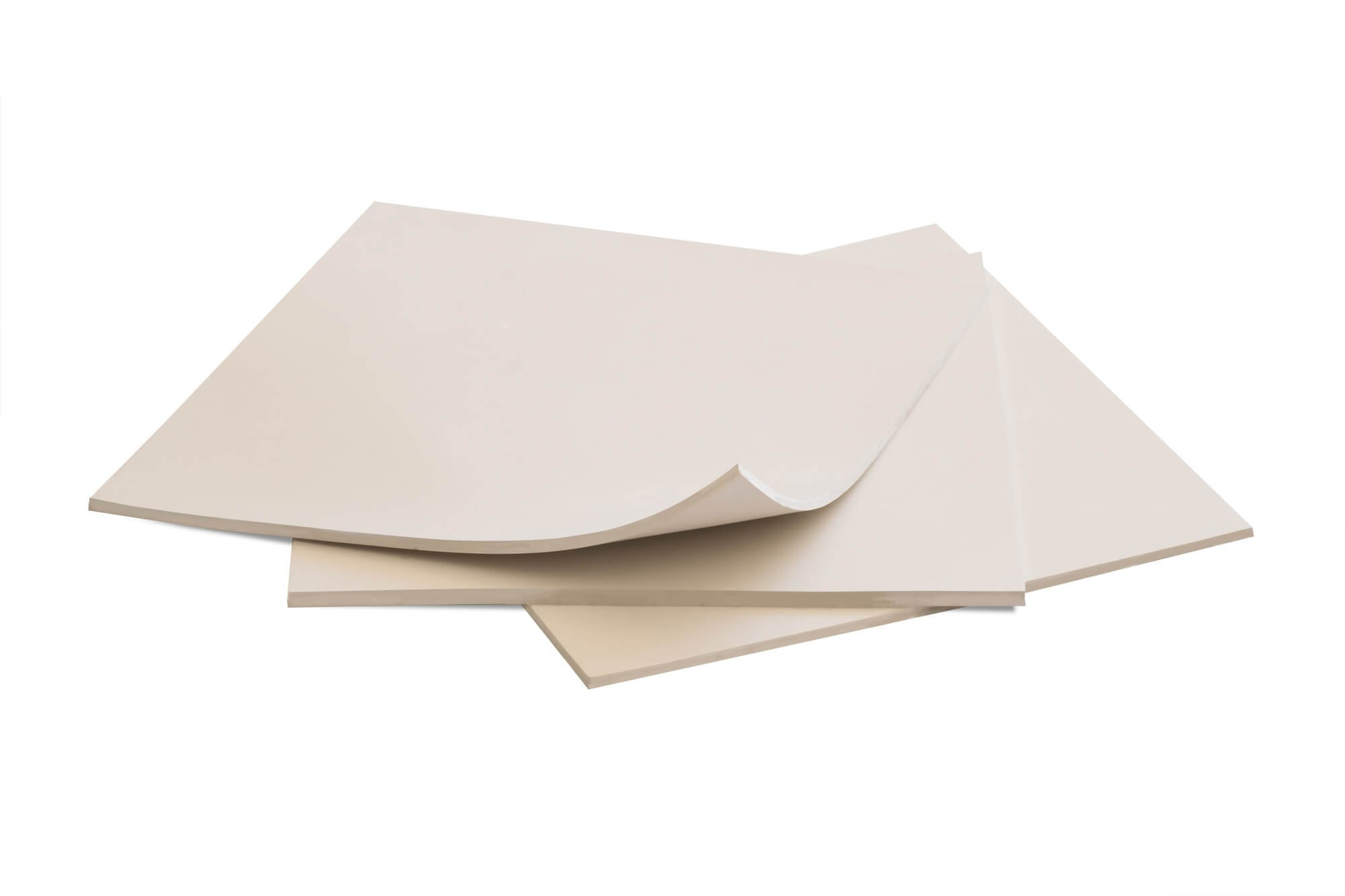 Rubber Sheets, Off White, (Pack of 3) 6x6-Inch by 1/8 (+/-10%) Hardness Shore A 60 / 65 Neoprene, Plumbing, Gaskets DIY Material, Supports, Leveling, Sealing, Bumpers, Protection, Abrasion, Flooring