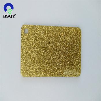 lembar akrilik berkilau,dekorasi dalam ruangan warna emas