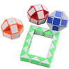 3D Cube Snake Folding Plastic Twist Puzzles Toy
