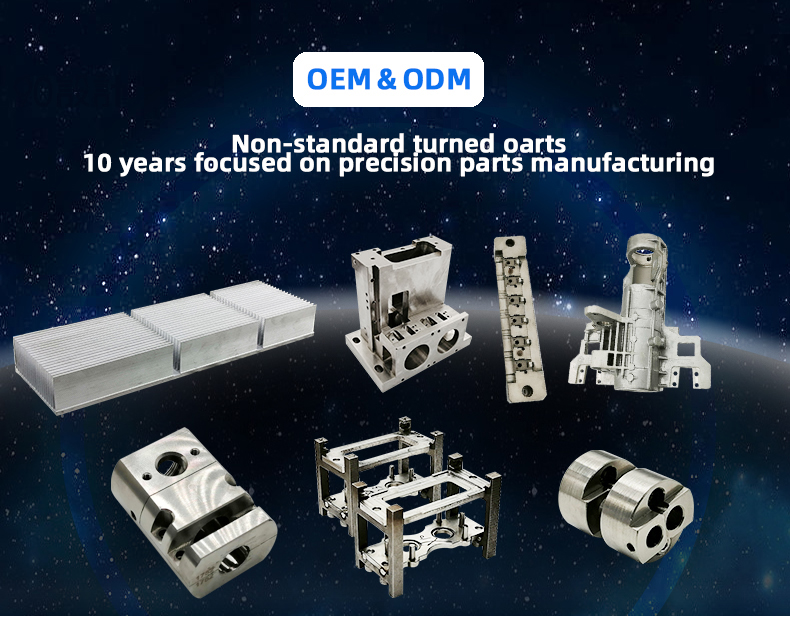 Custom  Harden mechanical parts Electric Drilling Aluminum machining Parts