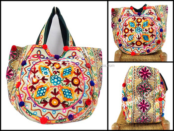 Embroidered Shoulder Bag - Vintage Embroidery Mirror Work Handbags -  Bohemian India Handbag -kutch Handmade 33ee4ef93cd8b