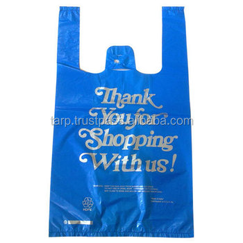 Professional Design Thank You T Shirt Plastic Bag From Vietnam Manufacturer