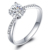 18k Gold SI Real Natual Diamond Women Engagement Ring Fine Wedding Jewelry Crown Shape