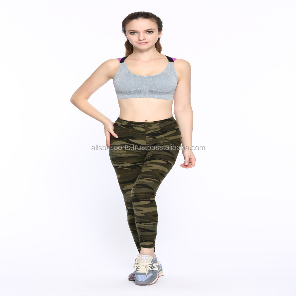 fitness Camouflage women 2017 winter print leggings Trouser Army Pants Stretch Leggings