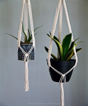Captivating Boho Macrame Plant Hanger Hanging Planter Pot Plant Hanger Rope Hanger