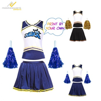 Mädchen Cheerleader Kostüm Outfit Uniform für Basketball Baseball High School