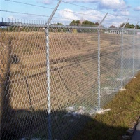 low price factory barb wire security fence chain link fence