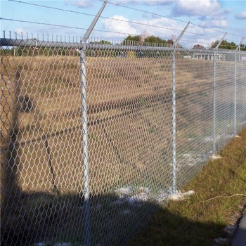 Low Price Factory Barb Wire Security Fence Chain Link ...