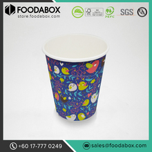 Quality Disposable Custom Printed Double Wall Paper Coffee Cup