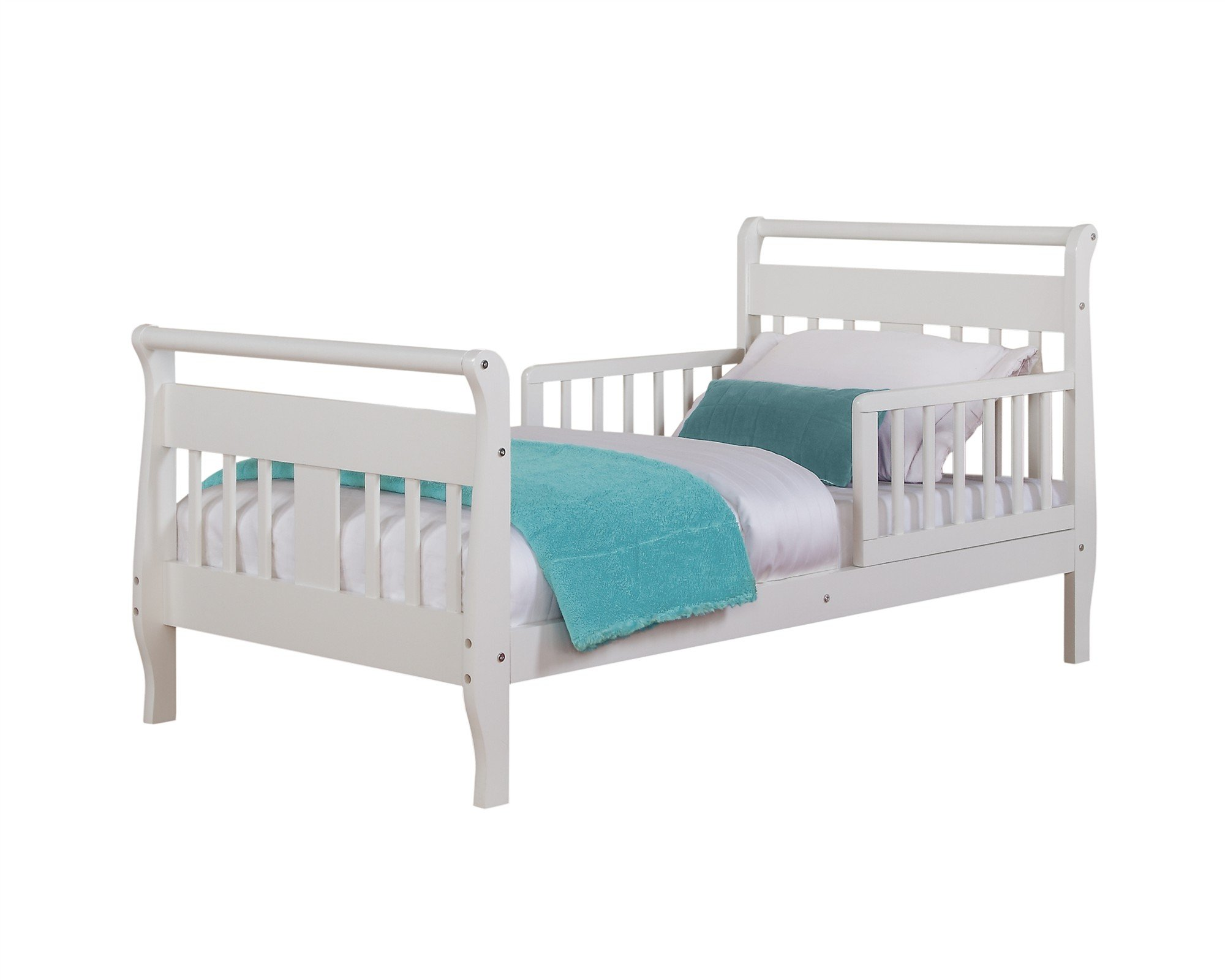 Baby Relax Sleigh Toddler Bed WHITE WM1646RW