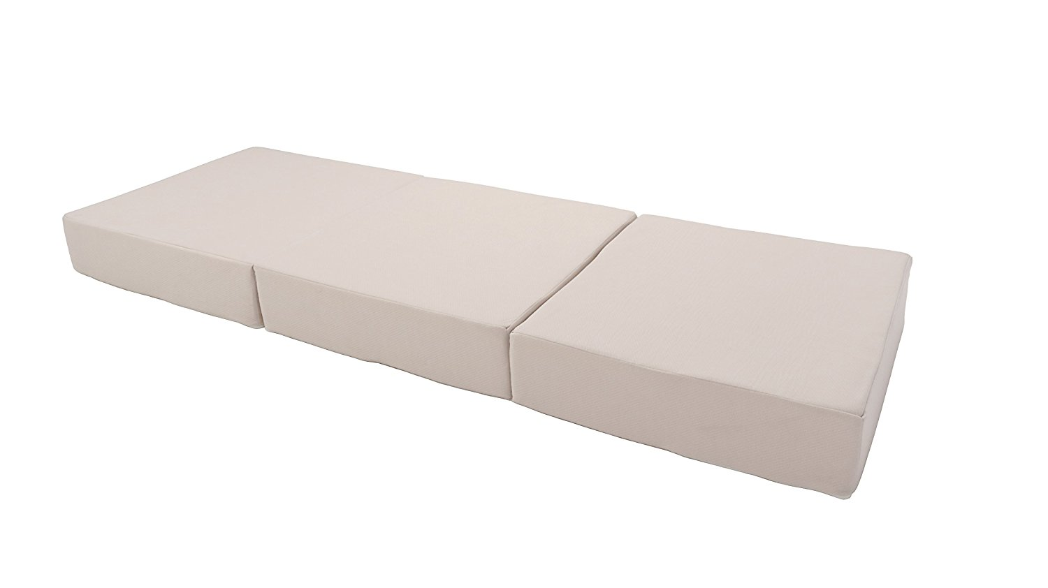Innovex FM427FPB Fold N Go Tri-Fold Memory Foam 4 inch folding mattress with removable cover and carry bag (75x27x4)
