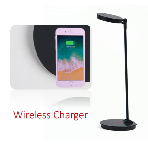 OEM Industrial Style Wireless Charger Charging Eye Protection Multifunctional Dimmable LED Table Desk Reading Lamp Rechargeable