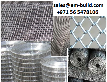 Wire mesh in Stainless steel and GI/ Expanded Metals + 971 56 5478106 Dubai/Doha/Muscat/Kuwait/KSA/Abu Dhabi/UAE/Oman/Bahrain