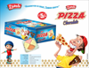 CHILDREN LOVE PIZZA CHOCOLATE WITH CHOCO PASTE AND MIX FRUIT FLAVOR CREAM