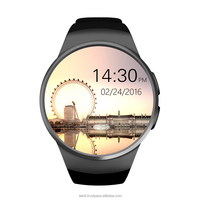 High Quality KW18 SmartWatch, Round Screen BT Smart Watch with Heart Rate Monitor