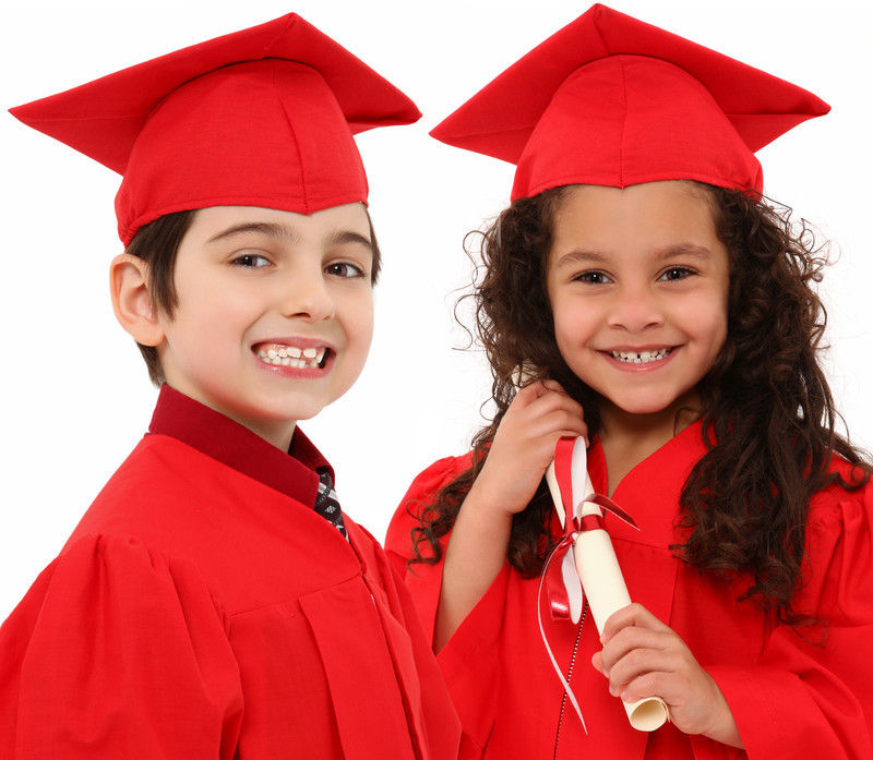 Childrens Graduation Gown And Hat 3-6 Years Kids Choir Costume With ...