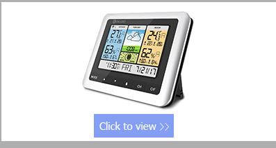 fio estação meteorológica casa termômetro usb previsão ao ar livre relógio
