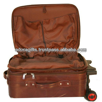 3fc6f87a7c9c Genuine leather traveling bags   2 wheels trolley luggage travel bags   fashionable  travel bag with
