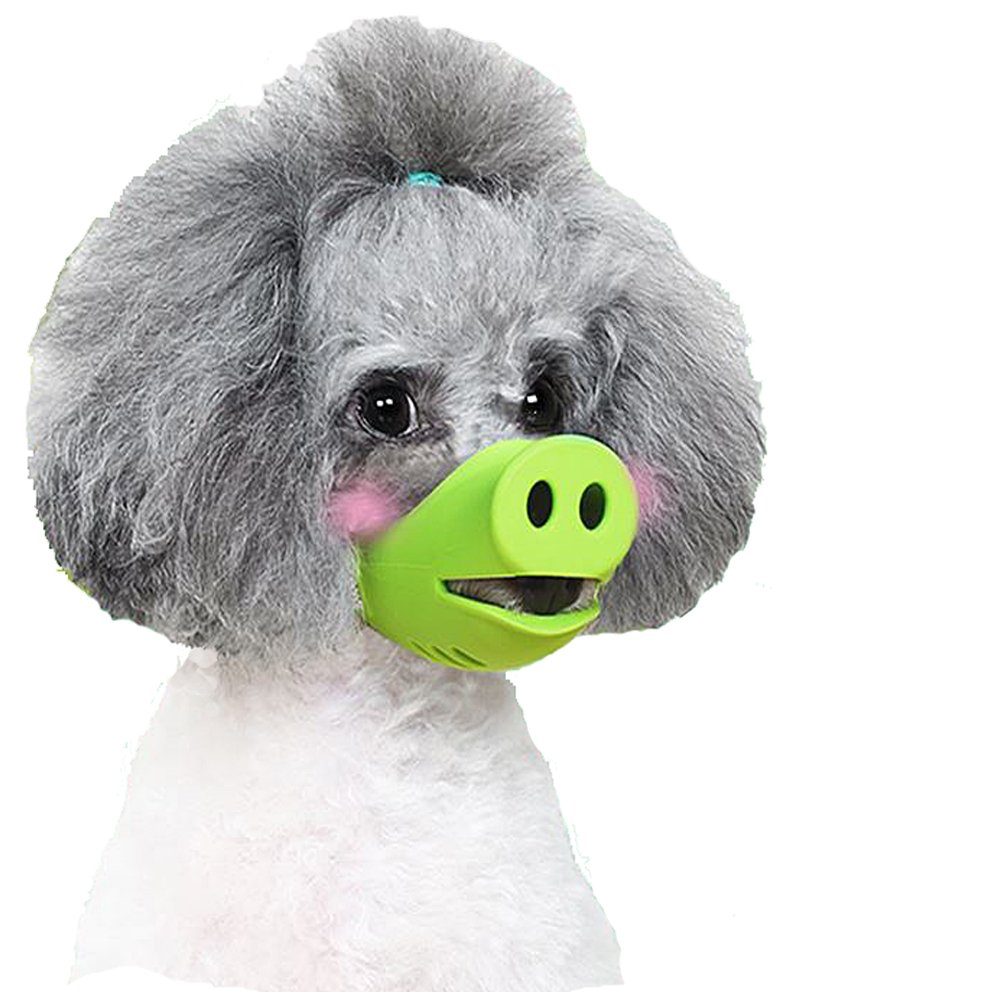 Anti Bite Dog Silicone Mask Muzzles for Biting Chewing,iMichelle Dog Anti Biting/Barking Muzzle Funny Pig Mouth Shape Puppy Muzzles Masks For Small Dog Chihuahua Corgi Dachshund Shih tzu Teddy