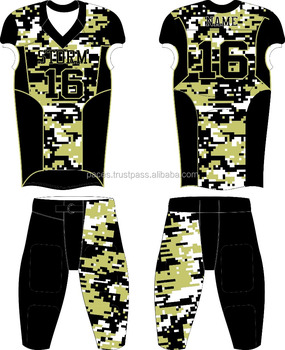 f5feb278d06 Custom Made high end quality sublimated white camouflage patterns youth and adult  American football team uniforms