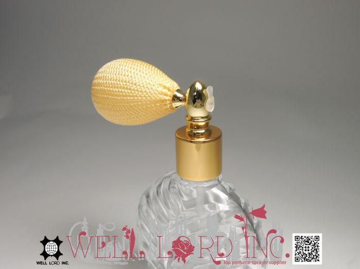 Adorable hair and perfume powder glass bottle with cap 16g purple color bulb powder sprayer pump