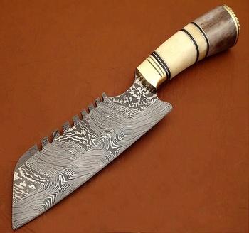 Damascus Steel Handmade Custom Fancy Chef\'s Kitchen Knife/ Bone Handle -  Buy Damascus Steel Custom Made Kitchen Chef\'s Knives,Kitchenware,Handmade  ...