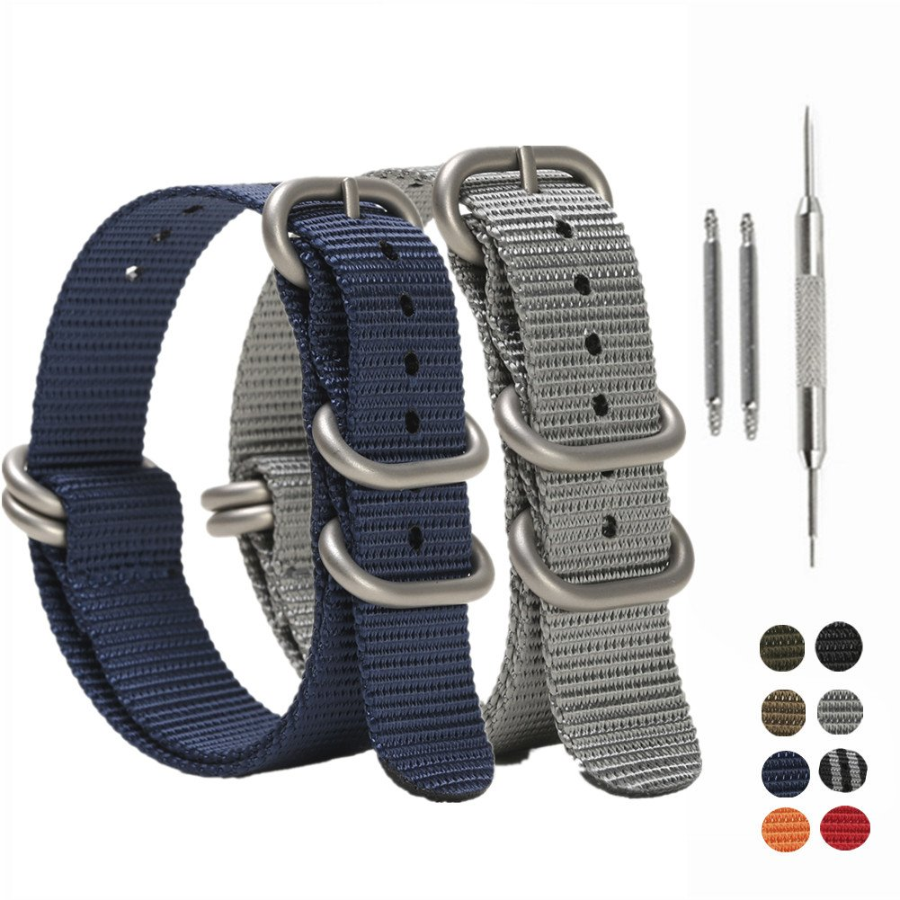 797ea4ea2f9 Get Quotations · SIMCOLOR Zulu Nylon Watch Bands
