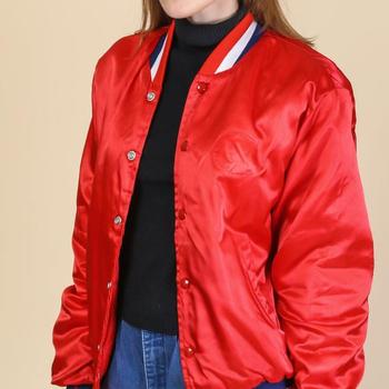 Vintage Ropa Deportiva Abrigo Rojo Brillante Chaqueta De Letterman Buy Chaquetajumper,Chaqueta Roja,Chaqueta Deportiva Product on