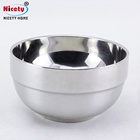 round stainless steel mixing soup/noodles bowl with glass lid