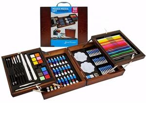 98pc Wooden Box Mixed Media Art Set